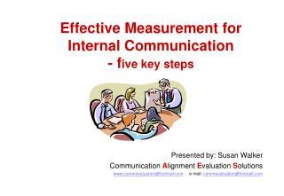 Effective Measurement for  Internal Communication  - f ive key steps