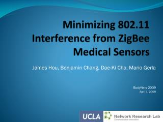 Minimizing 802.11 Interference from ZigBee Medical Sensors