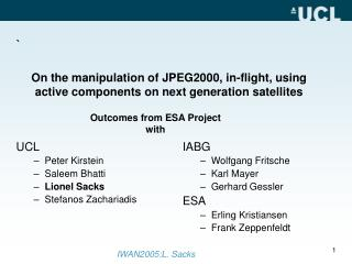On the manipulation of JPEG2000, in-flight, using active components on next generation satellites