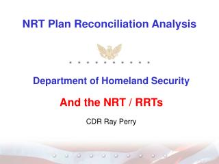NRT Plan Reconciliation Analysis