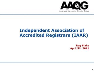 Independent Association of Accredited Registrars (IAAR)