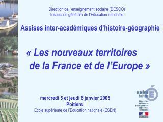 Direction de l'enseignement scolaire (DESCO) Inspection générale de l'Education nationale