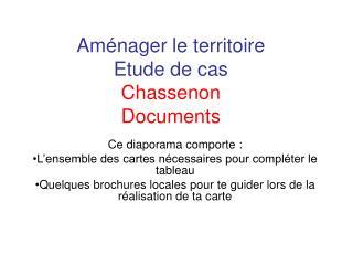 Am�nager le territoire Etude de cas Chassenon Documents