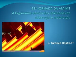 25�  JORNADA DA AMIMT A Ergonomia dentro das atividades de siderurgia e metalurgia