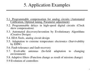5. Application Examples