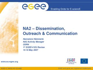 NA2 – Dissemination,  Outreach & Communication