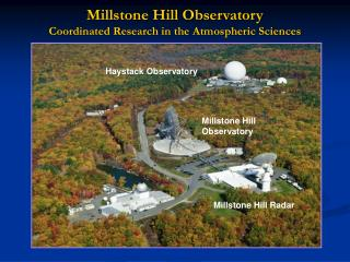 Millstone Hill Observatory Coordinated Research in the Atmospheric Sciences