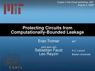 Protecting Circuits from Computationally-Bounded Leakage