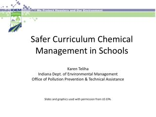Safer Curriculum Chemical Management in Schools