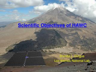 Scientific Objectives of HAWC