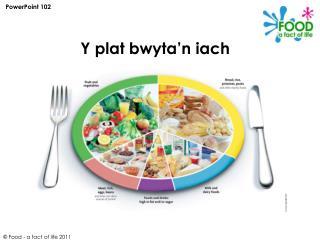 Y plat bwyta'n iach