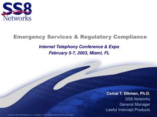 Emergency Services & Regulatory Compliance