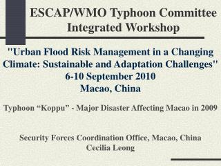 ESCAP/WMO Typhoon Committee Integrated Workshop