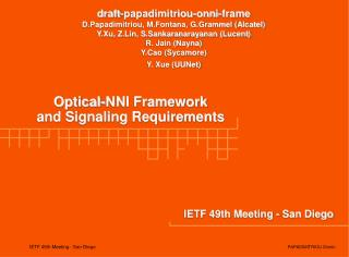 IETF 49th Meeting - San Diego