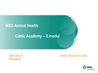 MSD Animal Health Cattle Academy – II.modul