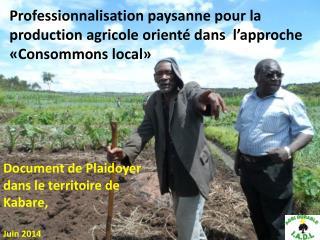 Document de Plaidoyer dans le territoire de Kabare,  Juin 2014