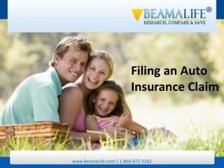 Filing an Auto Insurance Claim