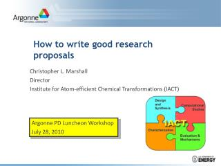 How to write good research proposals