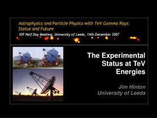 The Experimental Status at TeV Energies Jim Hinton University of Leeds