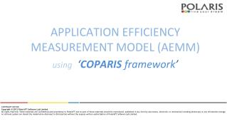 APPLICATION EFFICIENCY MEASUREMENT MODEL (AEMM)
