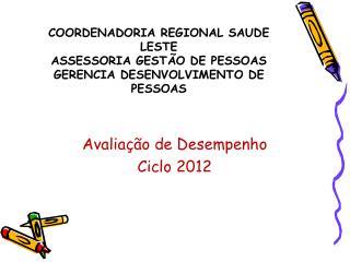Avaliação  de  Desempenho Ciclo  2012