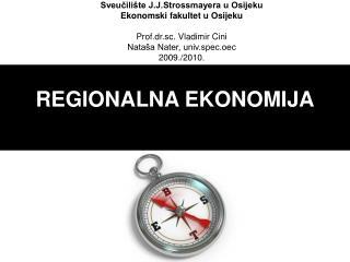 REGIONALNA EKONOMIJA