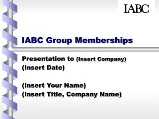 IABC Group Memberships
