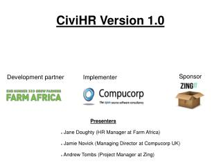 CiviHR Version 1.0