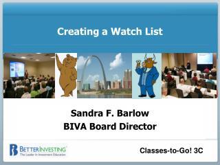 Creating a Watch List