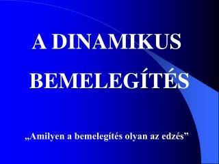A DINAMIKUS  BEMELEGÍTÉS