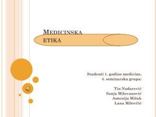 Medicinska etika