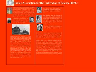Indian Association for the Cultivation of Science (1876-)