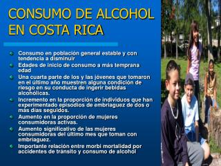 CONSUMO DE ALCOHOL EN COSTA RICA