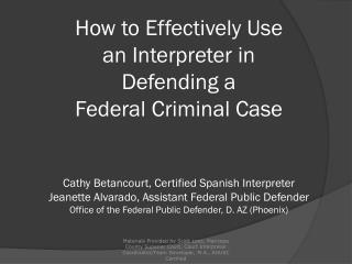10 Myths about Court  Interpreters