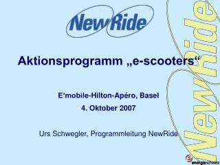 "Aktionsprogramm ""e-scooters"""