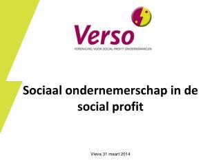 Sociaal ondernemerschap in de social profit