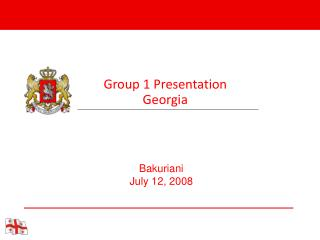Group 1 Presentation Georgia