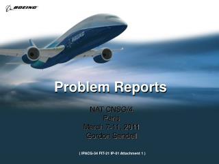 Problem Reports