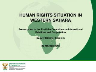 HUMAN RIGHTS SITUATION IN WESTERN SAHARA