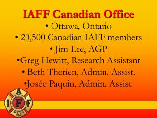 IAFF Canadian Office