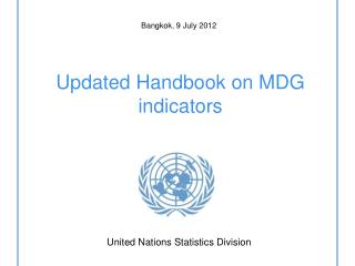Updated Handbook on MDG indicators