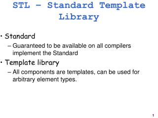 STL – Standard Template Library