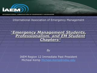 International Association of Emergency Management