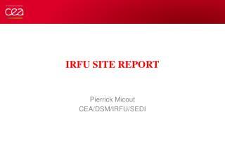IRFU Site report