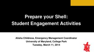 Prepare your Shell:  Student Engagement Activities