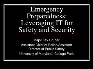 Emergency Preparedness: Leveraging IT for Safety and Security