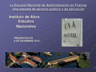 Instituto  de Altos  Estudios Nacionales