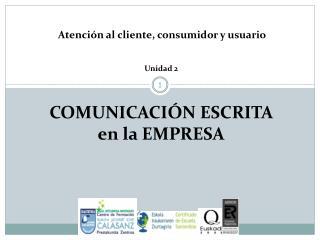COMUNICACIÓN ESCRITA en la EMPRESA