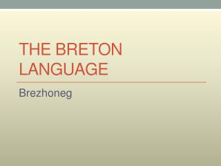 The Breton Language