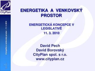 ENERGETIKA  A  VENKOVSKÝ PROSTOR